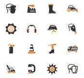 Установленные значки електричюеских инструментов Стоковые Изображения