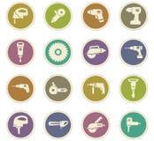 Установленные значки електричюеских инструментов Стоковое Изображение
