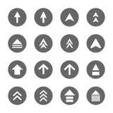 Установленные значки знака дизайна стрелки Стоковые Фото