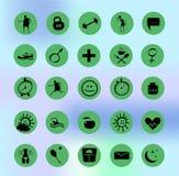 Установленные значки здоровья Стоковые Фотографии RF