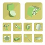 Установленные значки, иллюстрация eps 10 туалета Стоковые Фотографии RF