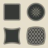 установленные значки кнопки стилизованные иллюстрация штока