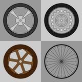 Установленные значки колеса Стоковое Изображение RF