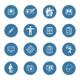 Установленные значки медицинских и здравоохранения Плоский дизайн Стоковые Фотографии RF