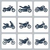 Установленные значки мотоциклов вектора бесплатная иллюстрация