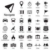 Установленные значки навигации Стоковые Изображения RF