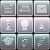 Установленные значки образования - иллюстрация вектора Стоковые Фотографии RF