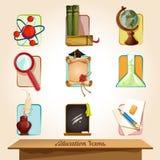 Установленные значки образования Стоковая Фотография RF