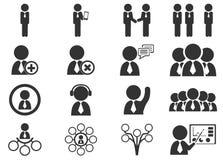 Установленные значки общины Стоковое Изображение