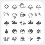 Установленные значки погоды Стоковые Фотографии RF
