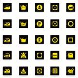 Установленные значки прачечной Стоковые Фотографии RF
