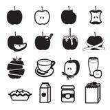 Установленные значки продукта Яблока Стоковые Фото