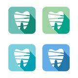 Установленные значки сети зуба Стоковая Фотография RF
