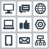 Установленные значки сети/интернета вектора Стоковая Фотография RF