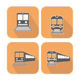Установленные значки сети поезда Стоковые Фото