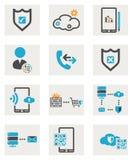 Установленные значки сети Стоковое Изображение RF