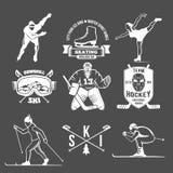 Установленные значки спорта зимы Стоковое фото RF