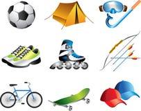 Установленные значки спорта Стоковые Изображения RF