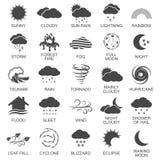 Установленные значки стихийного бедствия Стоковые Изображения