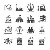 Установленные значки тематического парка иллюстрация штока