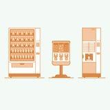 Установленные значки торговых автоматов Стоковые Изображения RF