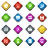 Установленные значки университета Стоковое Фото