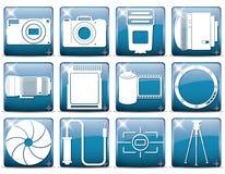 Установленные значки фото детализированными Стоковое фото RF