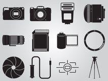 Установленные значки фото Стоковые Фотографии RF