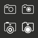 Установленные значки фото Стоковое Изображение RF