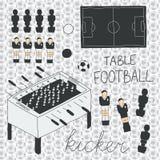 Установленные значки футбола таблицы также вектор иллюстрации притяжки corel Стоковые Изображения