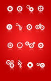 Установленные значки шестерней и колес Cog Стоковое фото RF