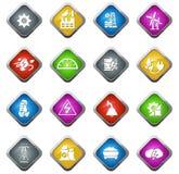 Установленные значки электричества Стоковая Фотография RF