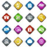 Установленные значки электронной коммерции Стоковое фото RF