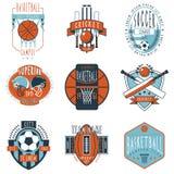 Установленные значки ярлыков спортивных клубов иллюстрация штока