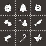 Установленные значки cristmas вектора Стоковое Фото