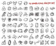 Установленные значки doodle вектора Стоковое Фото