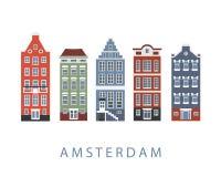 Установленные здания города Амстердама Стоковая Фотография