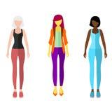 Установленные диаграммы людей значка стиля женщин плоские Стоковое фото RF