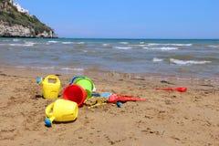 Установленные игрушки пляжа Стоковые Фото