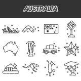 установленные иконы Австралии Стоковое Изображение RF