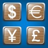 Установленные иконы денег Стоковые Фотографии RF