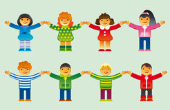 установленные иконы детей стоковое фото
