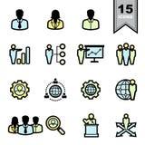установленные иконы дела Стоковые Изображения
