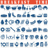 установленные иконы завтрака Стоковое фото RF