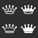 установленные иконы кроны Стоковые Изображения