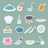 Установленные иконы кухни Стоковое Изображение RF