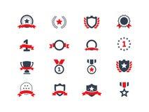 Установленные иконы награды Стоковые Фото