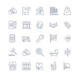 Установленные иконы недвижимости иллюстрация вектора
