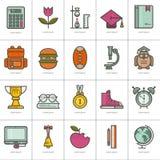 установленные иконы образования Стоковое Изображение