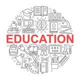 установленные иконы образования Стоковая Фотография